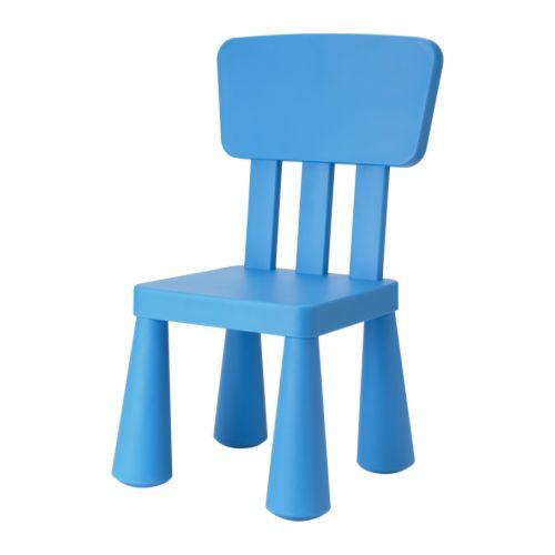 "MAMMUT Children's chair, blue Width: 15 3/8 "" Height: 26 3/8 "" Seat depth: 10 1/4 "" Seat height: 11 3/4 ""  Width: 39 cm Height: 67 cm Seat depth: 26 cm Seat height: 30 cm"