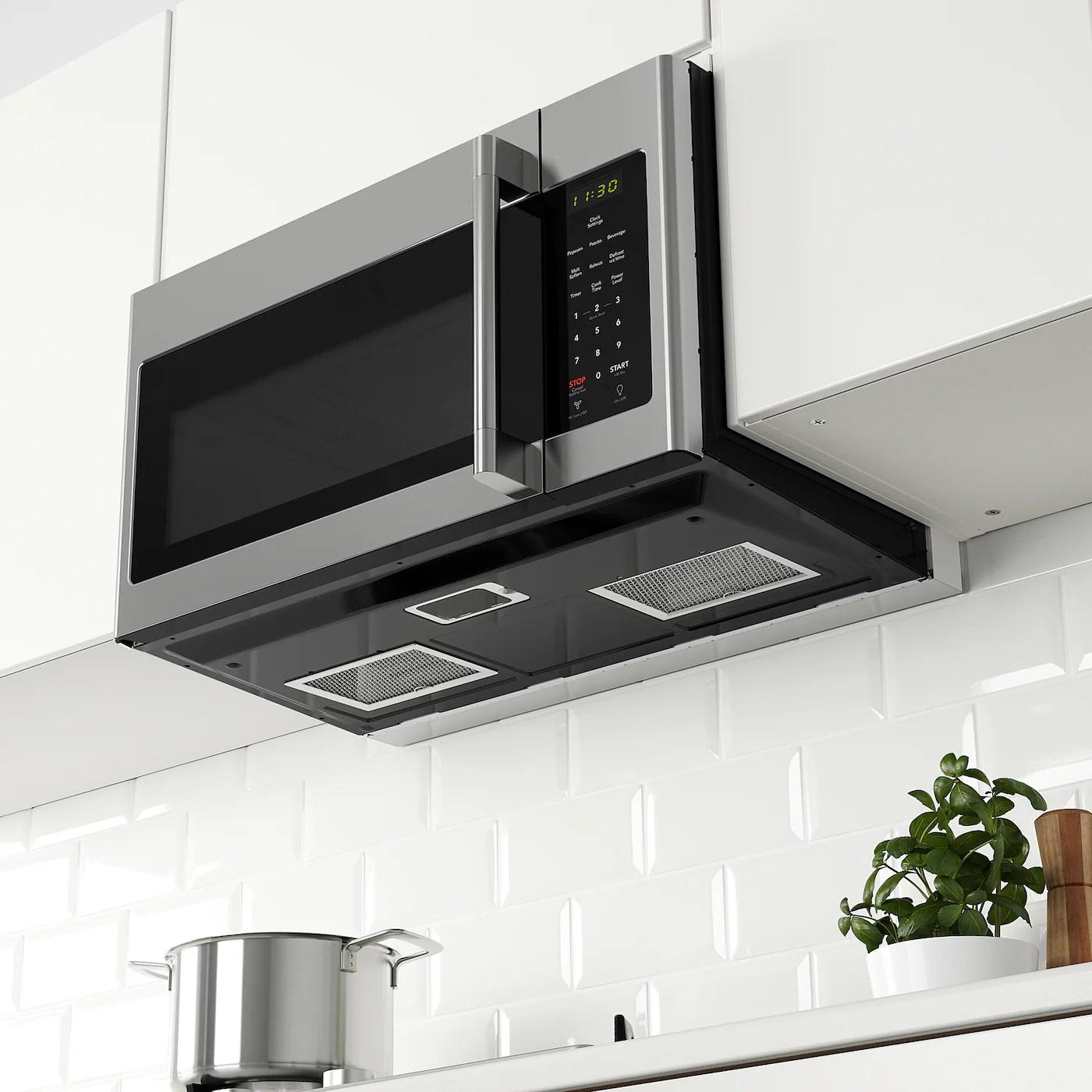 medelniva over the range microwave stainless steel