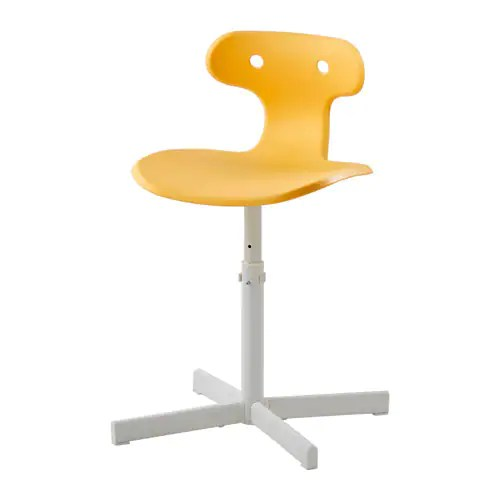 yellow office chair used party covers for sale molte desk ikea