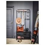 Pinnig Coat Rack With Shoe Storage Bench Black Ikea