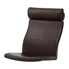 Ikea White Leather Chair Orange Dining Chairs PoÄng Cushion - Glose Black
