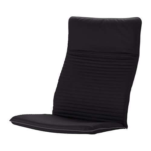 poang chair cushion replacement desk jysk knisa black ikea
