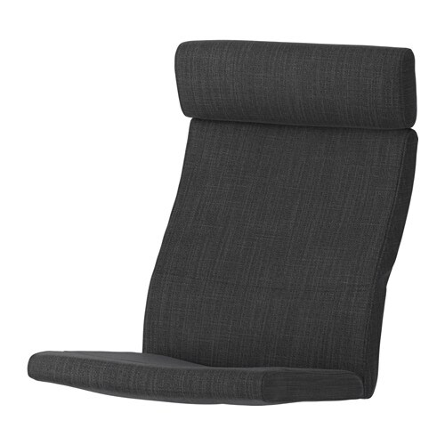 office chair cushion bedroom reading grey poang hillared anthracite ikea