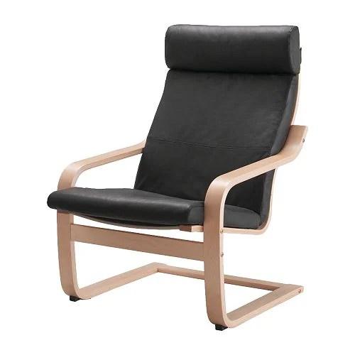 ikea poang chair covers wheel lift poÄng cushion - glose black