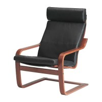 PONG Chair - Glose black, medium brown - IKEA