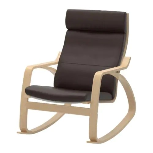 ikea rocking chair outdoor folding junior poang glose dark brown