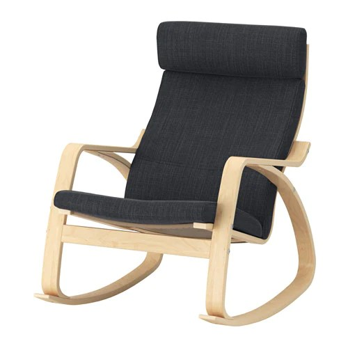 ikea rocking chair outdoor ciao portable high reviews poang knisa black
