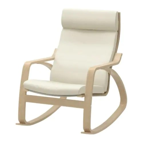rocking chair white outdoor best sleeper poang glose off ikea