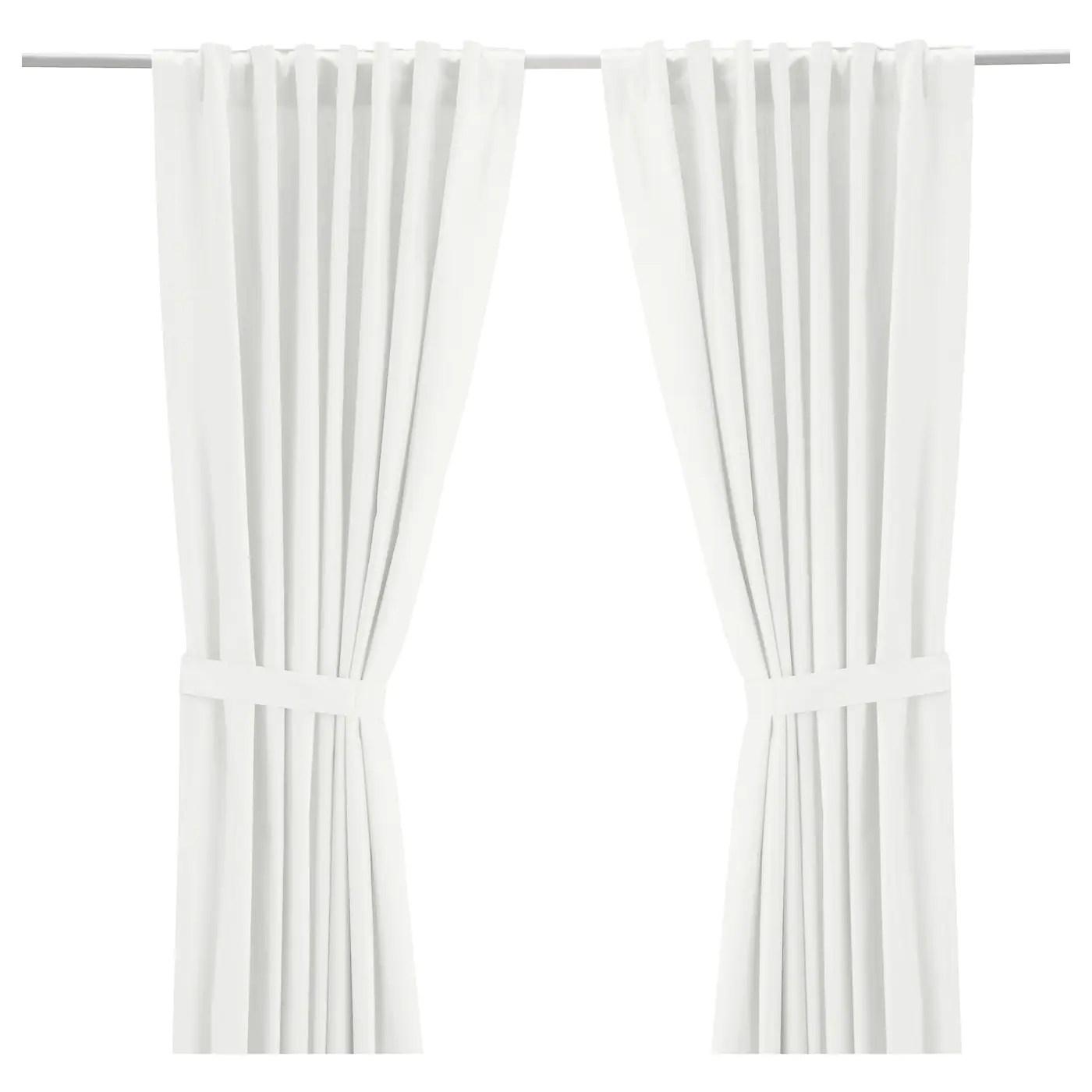 ritva curtains with tie backs 1 pair white 57x98