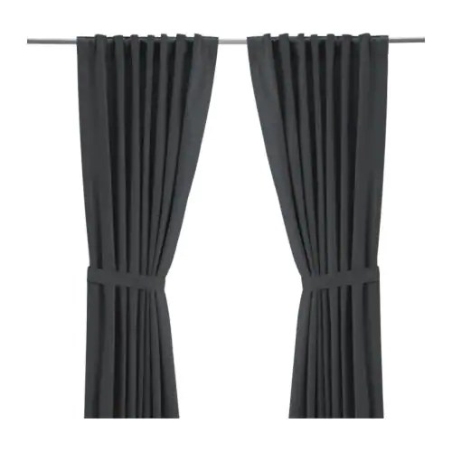 "RITVA Curtains With Tie Backs 1 Pair 57x98 "" IKEA"