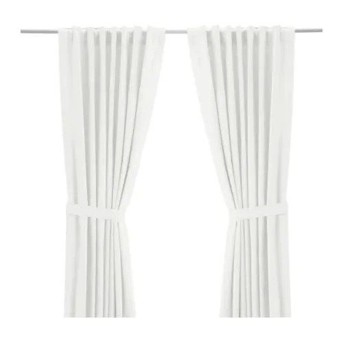 RITVA Curtains With Tie Backs 1 Pair IKEA