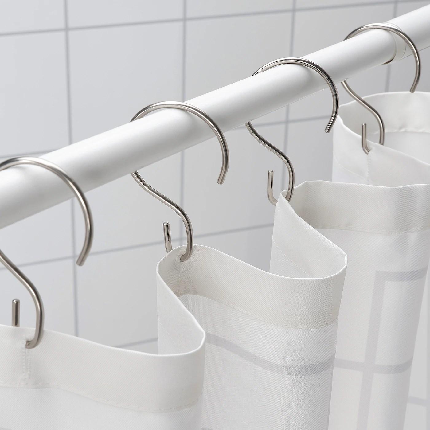 rudsjon shower curtain rings stainless steel color