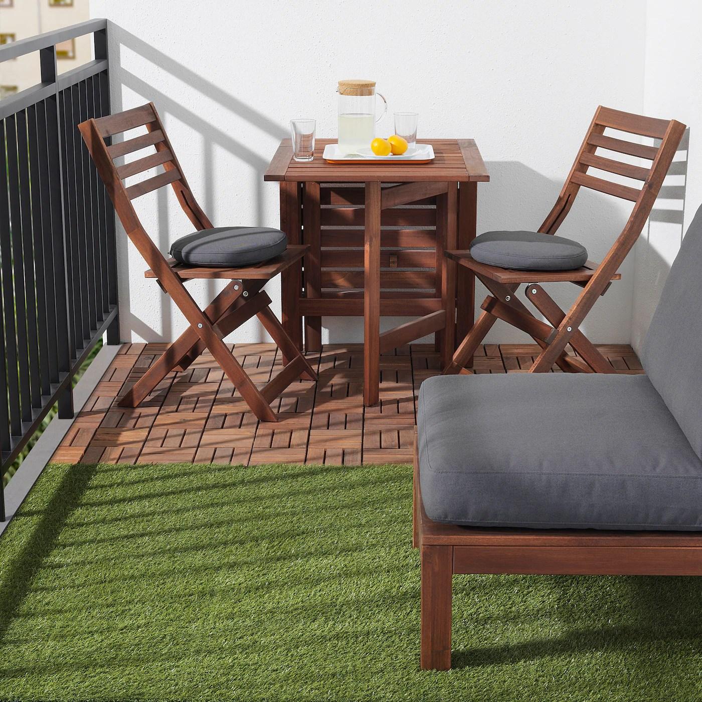 runnen decking outdoor brown stained 9 sq feet