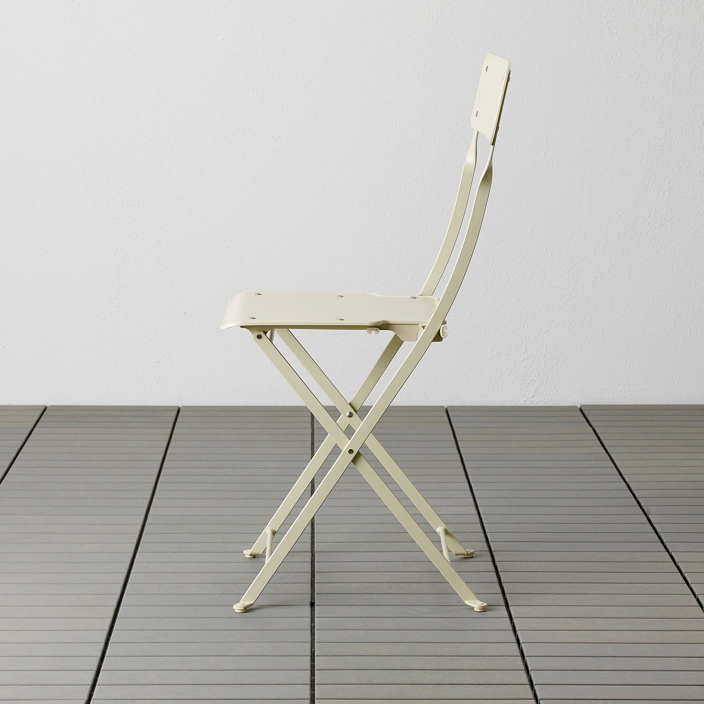 saltholmen chair outdoor foldable beige