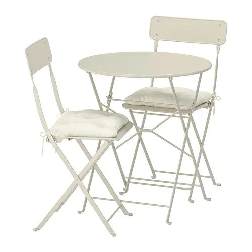 folding chair enclosure and a half rocker canada saltholmen table 2 chairs outdoor beige ikea