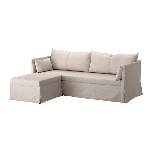 ikea sofa sleeper sectional l set sandbacken 3 seat lofallet beige