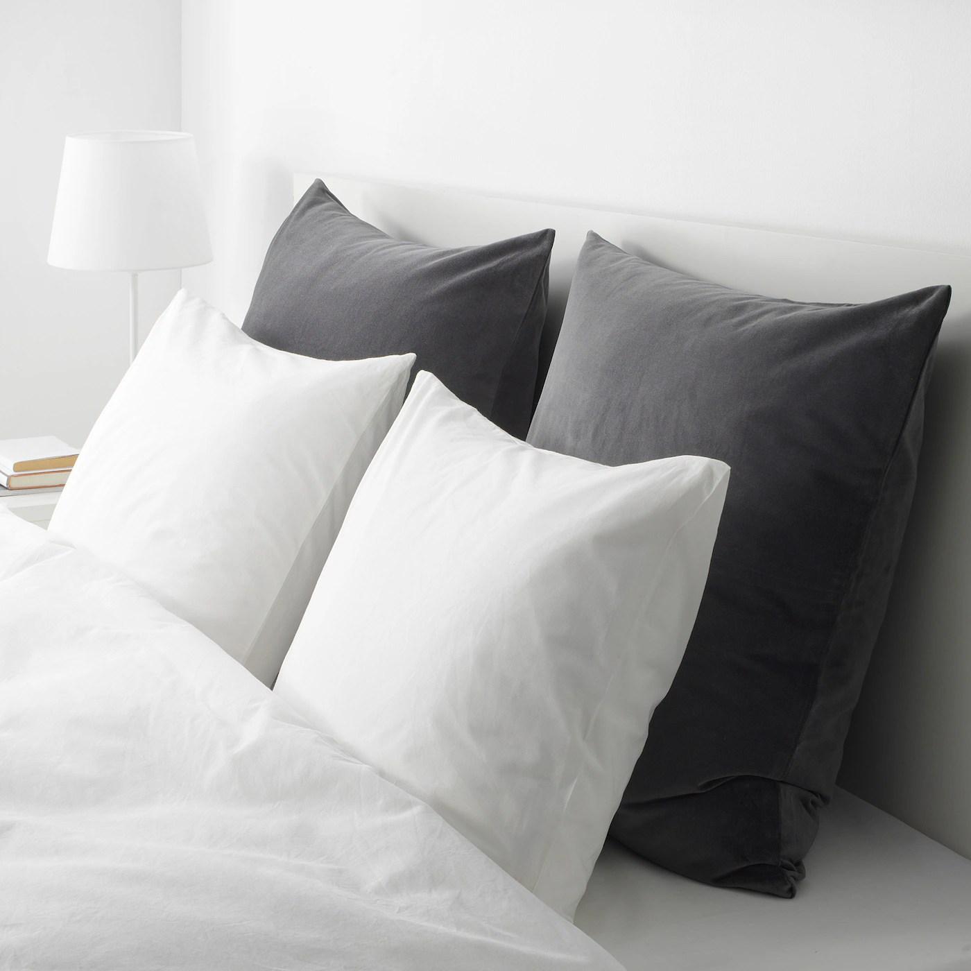 sanela cushion cover dark gray 26x26
