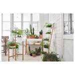 Satsumas Plant Stand With 5 Plant Pots Bamboo White Ikea