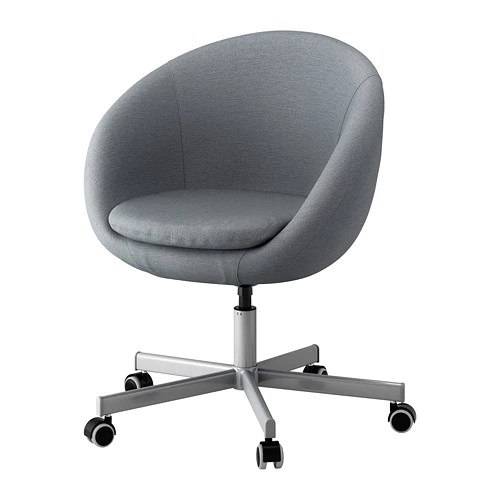ikea swivel chair office mat staples canada skruvsta vissle gray