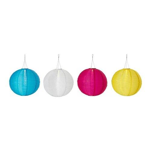 "SOLVINDEN Solar-powered lighting assorted colors Diameter: 20 ""  Diameter: 50 cm"