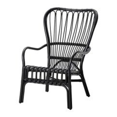 Black Rattan Chair Adirondack Chairs At Lowes Storsele Armchair Ikea