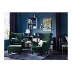 Ikea Chair With Ottoman Design For Bar Strandmon Djuparp Dark Green Material Matters