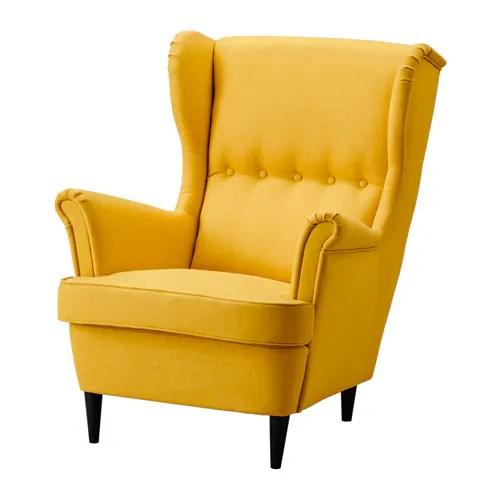 strandmon wing chair review desk ireland - skiftebo yellow ikea