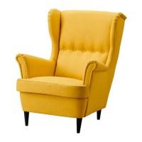 STRANDMON Wing chair - Skiftebo yellow - IKEA