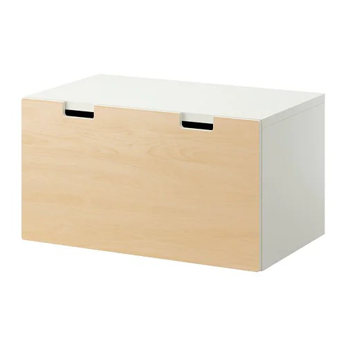 STUVA Storage bench IKEA Low storage makes it easier for children to reach and organize their things.