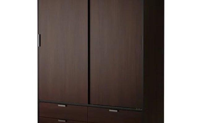 Trysil Wardrobe W Sliding Doors 4 Drawers Ikea