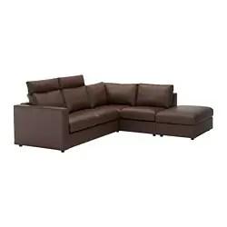 leather coated fabric sofas