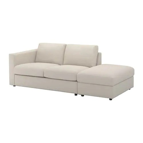 largo sofa kartell big size covers vimle - with open end/gunnared beige ikea