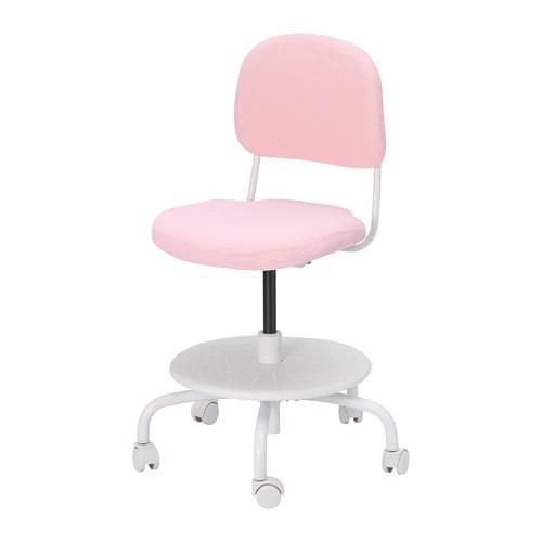 ikea pink desk chair cane barrel makeover vimund child s light