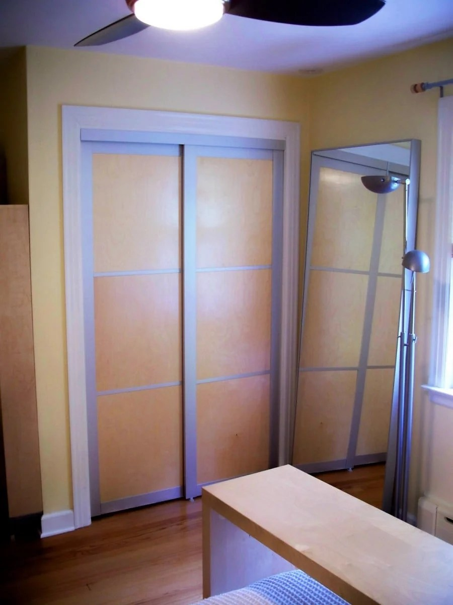 replacing a builtin wardrobes sliding doors  IKEA
