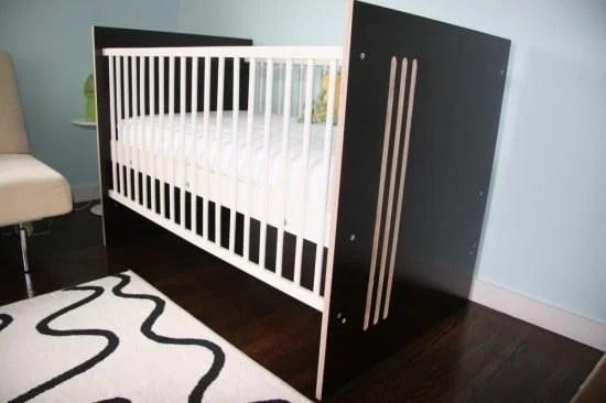 Modern stylish crib - IKEA GULLIVER hack