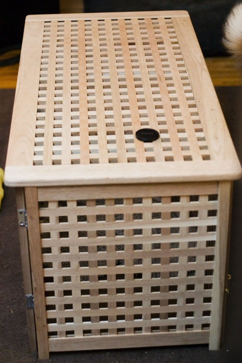 a tasteful dog crate you dont have to hide  IKEA Hackers