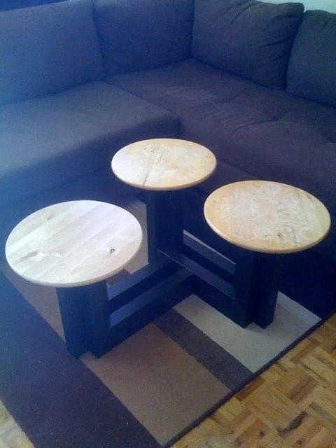 Lack Lazy Susan Coffee Table Ikea Hackers