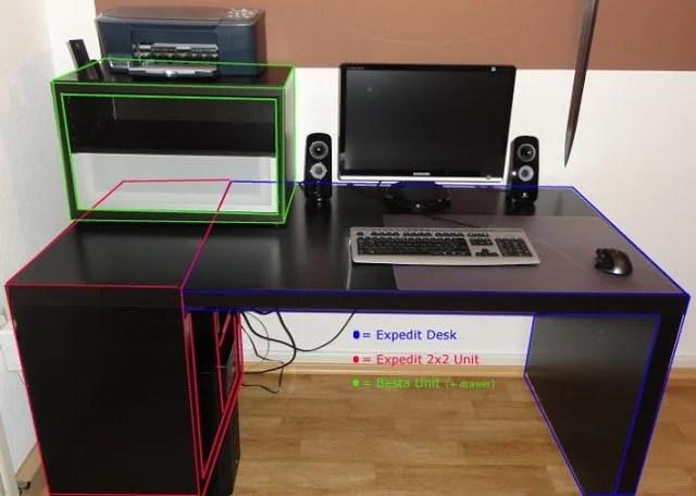 Expedit Computer Desk Ikea Hackers