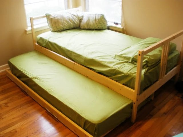 Two Fjellse Twin Beds Into A Trundle Ikea Hackers