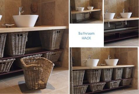 Wicker basket bathroom furniture  IKEA Hackers
