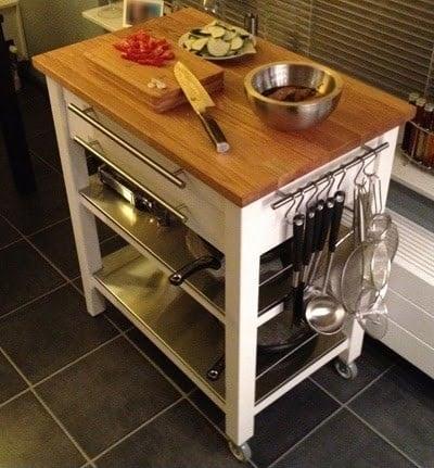 stenstorp kitchen cart deluxe version