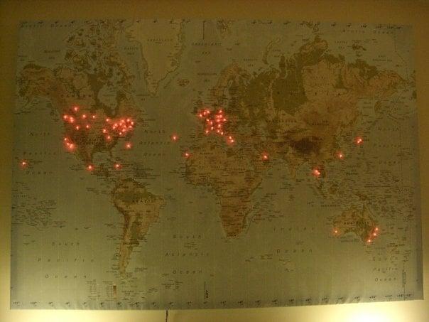 Duartes Lighted Travel Map  IKEA Hackers  IKEA Hackers