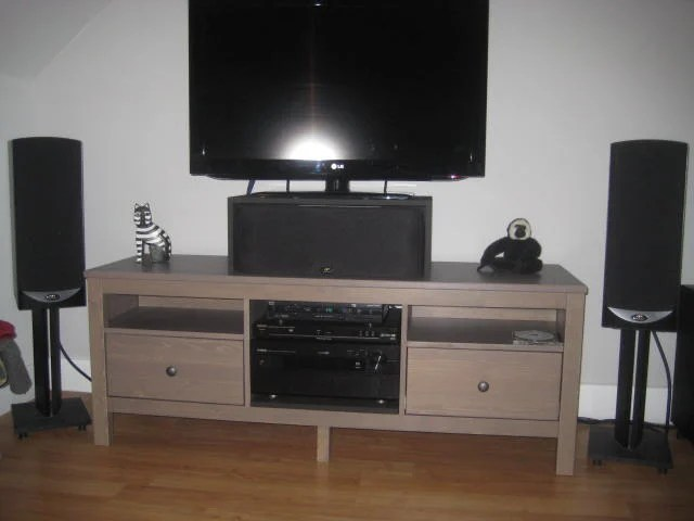 Hemnes Stereo Tv Stand Ikea Hackers