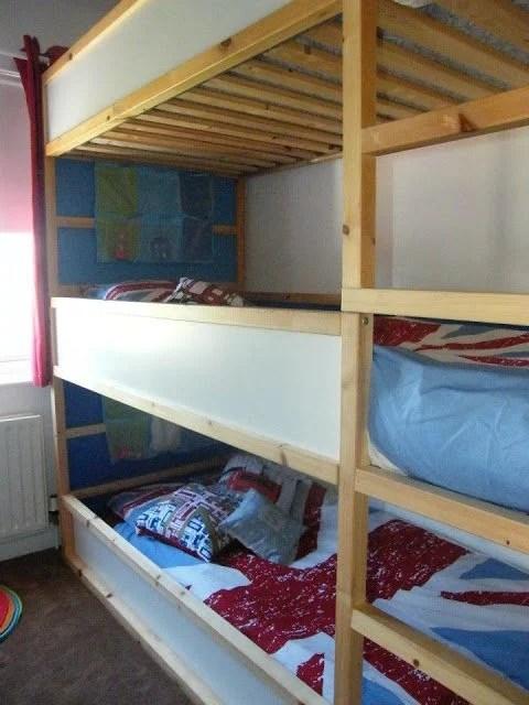 Space Saving Kids Triple Decker Beds Ikea Hackers