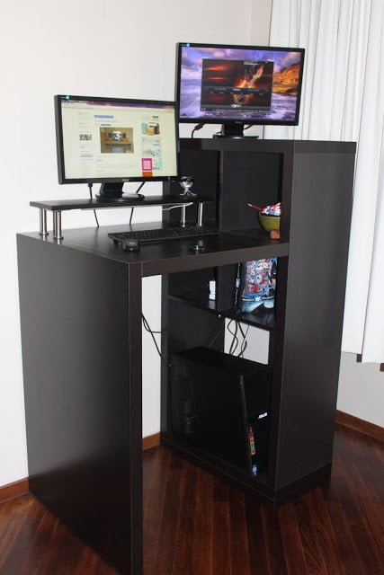 Expedit Workstation to Small Form Standing Desk  IKEA