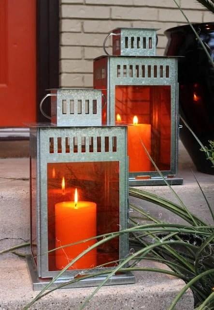 Colored Ikea Borrby Lanterns Ikea Hackers