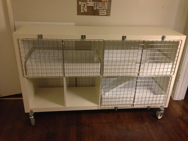 expedit turned guinea pig condo ikea hackers. Black Bedroom Furniture Sets. Home Design Ideas