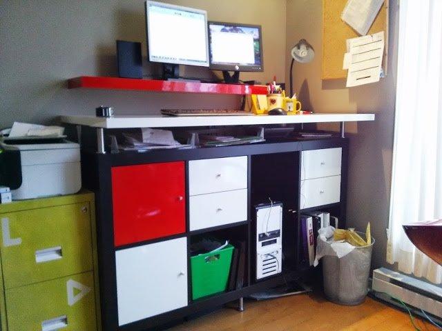 Modern dryerase standing desk  IKEA Hackers