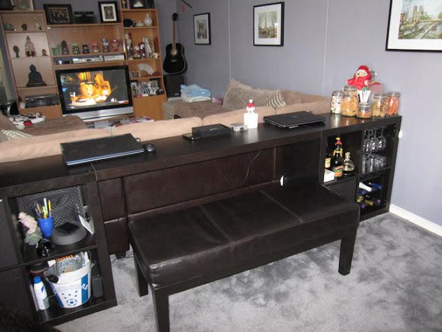 Expedit Sofa Table Bar Computer Desk Ikea Hackers