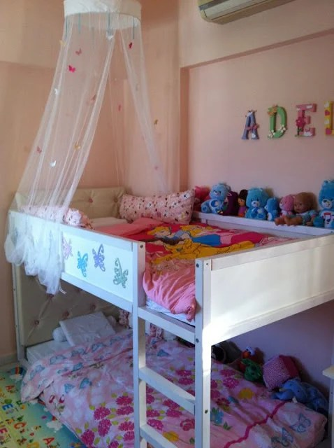 Girly Girl Kura Bunk Ikea Hackers